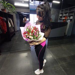 фото большой букет тюльпанов